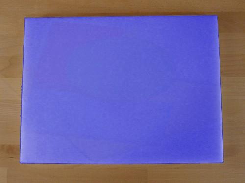 Planche in polyéthylène rectangulaire bleue 30X40 cm  - épaisseur 25 mm