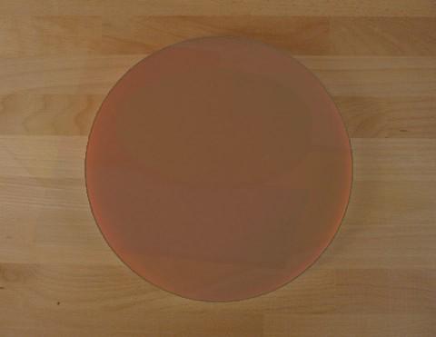Planche in polyéthylène rond marron diamètre 30 cm  - épaisseur 10 mm