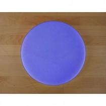 Planche in polyéthylène rond bleue diamètre 30 cm  - épaisseur 80 mm