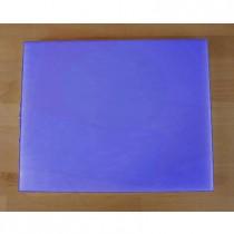 Planche in polyéthylène rectangulaire bleue 40X50 cm  - épaisseur 10 mm
