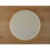 Planche in polyéthylène rond blanche diamètre 30 cm  - épaisseur 25 mm
