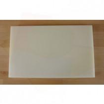 Planche in polyéthylène rectangulaire blanche 50X80 cm  - épaisseur 10 mm