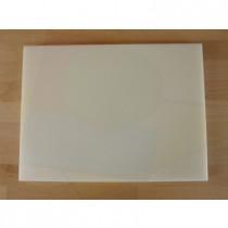 Planche in polyéthylène rectangulaire blanche 30X40 cm  - épaisseur 80 mm