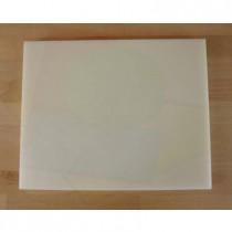 Planche in polyéthylène rectangulaire blanche 40X50 cm  - épaisseur 25 mm