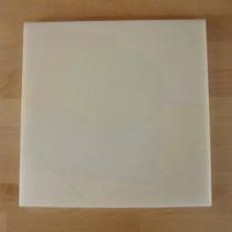 Planche in polyéthylène carré blanche 40X40 cm  - épaisseur 10 mm