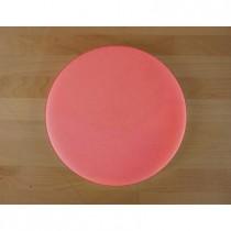 Planche in polyéthylène rond rouge diamètre 30 cm  - épaisseur 80 mm