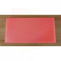 Planche in polyéthylène rectangulaire rouge 40X80 cm  - épaisseur 10 mm