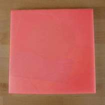 Planche in polyéthylène carré rouge 40X40 cm  - épaisseur 10 mm