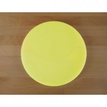 Planche in polyéthylène rond jaune diamètre 30 cm  - épaisseur 15 mm