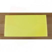 Planche in polyéthylène rectangulaire jaune 40X80 cm  - épaisseur 10 mm