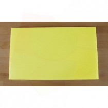 Planche in polyéthylène rectangulaire jaune 30X50 cm  - épaisseur 10 mm