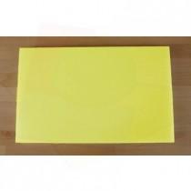 Planche in polyéthylène rectangulaire jaune 50X80 cm  - épaisseur 10 mm