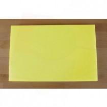 Planche in polyéthylène rectangulaire jaune 40X60 cm  - épaisseur 25 mm