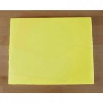 Planche in polyéthylène rectangulaire jaune 40X50 cm  - épaisseur 10 mm