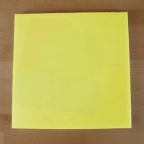 Planche in polyéthylène carré jaune 40X40 cm  - épaisseur 10 mm
